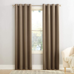 Sun Zero Barrow Energy Efficient Grommet Curtain Panel, 54″ x 95″, Mocha Brown $8.79 (REG $29.99)