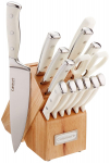 Triple Rivet Collection 15-Piece Cutlery Block Set, White $59.14 (REG $160.00)