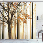 Ambesonne Autumn Shower Curtain, Picture of a Lonely Tree with Orange Leaves $14.95 (REG $39.99)