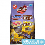 Snickers, M&M'S & Twix Fun Size Candy Variety Mix, 60 Pieces $8.99 (REG $19.95)