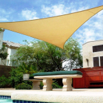 Shade&Beyond 16′ x 16′ x 16′ Sand Color Triangle Sun Shade Sail $21.99 (REG $36.98)
