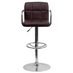 Flash Furniture Contemporary Brown Quilted Vinyl Barstool $52.55 (REG $178.99)