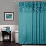 Lush Decor Lillian Shower Curtain | Textured Shimmer Circle Design Bathroom$11.99 (REG $59.99)