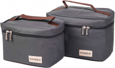 Hango Insulated Lunch Box Cooler Bag (Set of 2 Sizes) (Gray) $15.99 (REG $35.00)