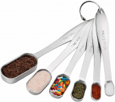 Spring Chef Heavy Duty Stainless Steel Metal Measuring Spoons for Dry or Liquid, $11.97 (REG $24.97)