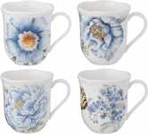 Lenox Butterfly Meadow Assorted Blue Mug, Set of 4, White $27.99 (REG $49.95)