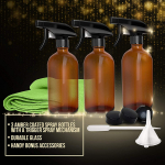 LIGHTNING DEAL!!! 3 Pack – Refillable Empty Amber Glass Spray Bottles $6.79 (REG $11.99)