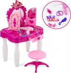 Kids Vanity Table and Chair Beauty Mirror and Accesories Play Set with Fashion & Makeup Accessories $28.16 (REG $49.99)