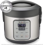 Instant Zest Rice Cooker, Grain Maker, and Steamer, 8 Cups, Cooks White Rice, $29.99 (REG $60.00)