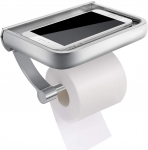 Homemaxs Toilet Paper Holder w/ Shelf All Mobile Phone, Anti-Rust Wall Mounted $18.99 (REG $31.99)