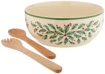 Lenox 853767 Holiday Salad Bowl and Servers $31.99 (REG $80.00)
