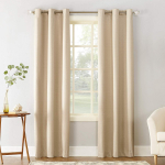 Cooper Thermal Insulated Room Darkening Grommet Curtain Panel, 40″ x 84″, Linen $9.56 (REG $34.99)