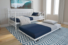 DHP Manila Metal Framed Daybed with Trundle, Twin – White $110.52 (REG $250.00)