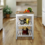 Casual Home Sunrise with Solid Maple Top Kitchen Island $80.00 (REG $151.99)