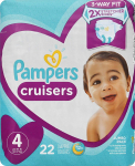 Diapers Size 4, 22 Count – Pampers Cruisers Disposable Baby Diapers $8.97 (REG $19.36)