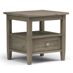 Warm Shaker Solid Wood 20 inch Wide Rectangle Rustic End Side Table $107.69 (REG $249.99)