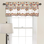 Lush Decor Clara Valance Paisley Damask Print Bohemian Style Single Curtain, $14.97 (REG $44.00)