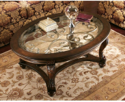 Signature Design by Ashley – Norcastle Traditional Glass Top Oval Coffee Table $225.34 (REG$449.00)