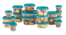 Rubbermaid Food Storage 38 Piece Set with Easy Find Lids, Teal $32.95 (REG $59.99)