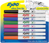EXPO 1884309 Low-Odor Dry Erase Markers, Ultra Fine Tip$7.19 (REG $14.25)