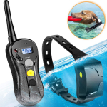 LIGHTNING DEAL!!! Waterproof Dog Shock Collar with Remote IPX5 3000ft Range $50.91 (REG $79.99)