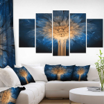 Fractal 3D Dragon Flower-Abstract Art Canvas $66.23 (REG $133.00)