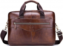 Genuine Leather Briefcase for Men $49.99 (REG $168.99)