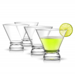 JoyJolt 4-Piece Afina Cocktail Glasses Set, Martini Glasses- 8-Ounces $11.83 (REG $24.95)