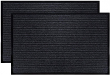 Fasmov 2 Pack Indoor Outdoor Entrance Rug Floor Mats Shoe Scraper Doormat $14.98 (REG $39.99)