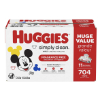 HUGGIES Simply Clean Fragrance-free Baby Wipes, Soft Pack $13.98 (REG $17.99)