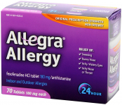 Allegra Adult 24 Hour Allergy Tablets $19.78 (REG $42.99)