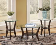 Signature Design by Ashley – Fantell Circular Glass Top Occasional Table Set $198.00 (REG $425.90)