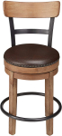 Ashley Furniture Signature Design Pinnadel Swivel Barstool – Brown $109.99 (REG $195.31)
