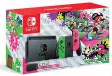 Nintendo Switch Hardware with Splatoon 2 + Neon Green/Neon Pink Joy-Cons  Only $379.99 Shipped!