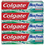 Colgate Max Fresh Whitening Toothpaste with Breath Strips, Clean Mint$7.98 (REG $13.96)