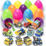 Prextex Toy Filled Easter Eggs Filled with Pull-Back Construction Vehicles$14.99 (REG $39.99)