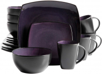 Gibson Home Soho Lounge 16-Piece Dinnerware Set, Purple $34.99 (REG $79.99)