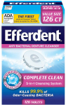 Efferdent Anti-Bacterial Denture Cleanser | 5-in-1 Cleansing System | 126 Count $3.55 (REG $6.99)