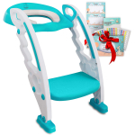 BABYSEATER Toilet Training Seat with Ladder and Handles for Toddlers, Turquoise $39.95 (REG $95.00)