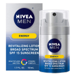 NIVEA Men Energy Lotion Broad Spectrum SPF 15 Sunscreen 1.7 Fluid Ounce $3.32 (REG $6.49)