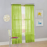 No. 918 Calypso Sheer Voile Rod Pocket Curtain Panel $5.99 (REG $14.99)