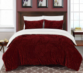 Chic Home 3 Piece Josepha Pinch Pleated Ruffled & Pintuck Sherpa Lined Comforter $70.45 (REG $185.50)