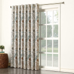 Sun Zero Kara Floral Print Energy Efficient Grommet Patio Door Curtain Panel $18.19 (REG $59.99)