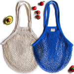 Sugarberry Reusable Grocery Bags – 100% Cotton Net, Long Handle, Foldable, $9.99 (REG $19.99)