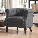 Rosevera C21 Barrel Chair, Grey $210.95 (REG $599.00)