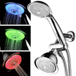 Luminex by PowerSpa 7-Color 24-Setting LED Shower Head Combo $39.98 (REG $89.99)