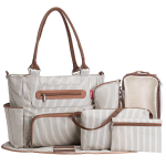 SoHo Grand Central Station Diaper Bag 7Pc, Striped $34.50 (REG $69.99)
