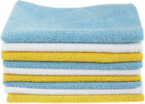 AmazonBasics Blue and Yellow Microfiber Cleaning Cloth, 24-Pack $8.51 (REG $12.81)