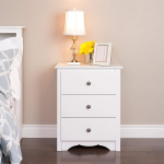 Prepac Monterey Nightstand Tall 3-Drawer White $101.99 (REG $199.99)