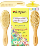 4 Piece Baby Hair Brush Set with Natural Hair Products $16.78 (REG $34.90)